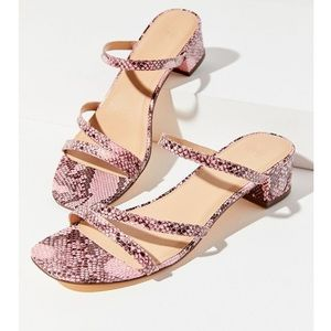UO Claudia Faux Snakeskin Sandals